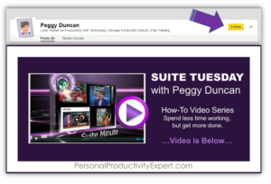 Video tutorials on Linkedin Pulse with Peggy Duncan